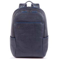 PIQUADRO CA3214B2S BLU ZAINO ORGANIZZATO IN PELLE PORTA PC E TABLET BLUE  SQUARE SPECIAL 607d19b71a6