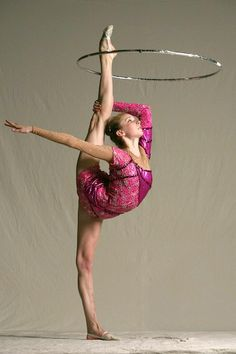 rhythmic gymnastics  I used to be able to do this!