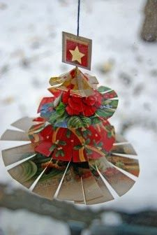 Good Reuse Old Christmas Cards To Make Ornaments