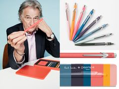 As a long time user of Caran d'Ache, British Fashion Designer,Paul Smith collaborated with the brand in creating a colorful collection encompassing  his and Caran d'Ache's passion for color.