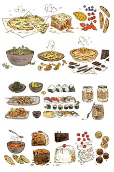 1 post published by Marian during March 2019 Food Illustrations, Illustration Art, Jessie Ware, Arte Do Kawaii, Prop Design, Food Drawing, Cute Food, Yummy Food, Art Studies