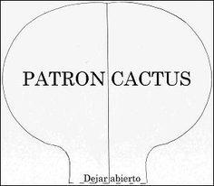 Patrón cactus tela