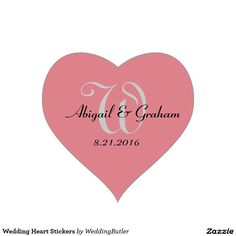 Shop Wedding Heart Stickers created by WeddingButler. Personalize it with photos & text or purchase as is! Thank You Notes, Marry Me, Envelope, Dream Wedding, Invitations, Stickers, Heart, Gifts, Envelopes