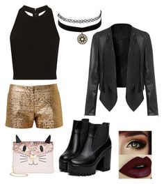 """""""look de noche"""" by micaelagrau on Polyvore featuring Lanvin, Alice + Olivia, Charlotte Russe and Betsey Johnson"""