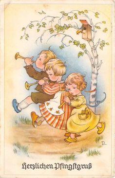 Elsa Beskow, Miniature Quilts, Pentecost, Vintage Postcards, Vintage Clip, Mini Quilts, Christmas Images, Illustrations And Posters, Paper Dolls