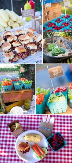 summer farmers market birthday bash #partyplanning #food #recipes