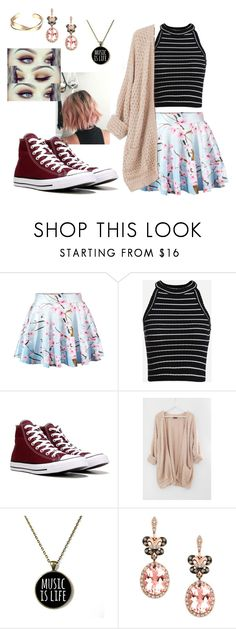 """Personal Style #1"" by abigail-fredricks ❤ liked on Polyvore featuring WithChic, Converse, Effy Jewelry, chic, floral, converse, MyStyle and haltertop"