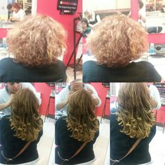 Extenciones de cabello natural.