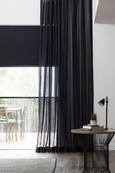 Wilson's Aruba Sheer & Sheer Blind. Available in 12 elegant colours that match back to our Mercury II Blind Fabric. FR Tested to AS1530.2 ideal for domestic and commercial use.