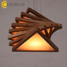 ae98c33267c1 137.89  Watch now - Modern Art Wooden Pendant Lights cord Hanging Wood  Acrylic E27 bulb Lamps Dinning Room Restaurant Retro Fixtures Luminaire    ...