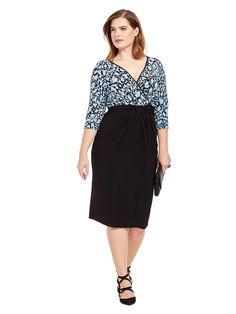 Igigi | Gabriella Dress In Blue & Black | Gwynnie Bee