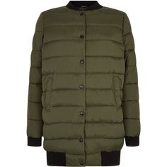 New Look Teens Khaki Longline Puffer Jacket (£26) ❤ liked on Polyvore featuring outerwear, jackets, khaki, long line jacket, longline jacket, puffer jacket, khaki jacket and puffy jacket