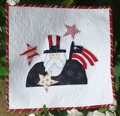 StitchinByTheLake~ Uncle Sam Americana quilt block