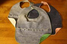 repurposed denim bibs - happy hooligans - bibs - old jeans and tee shirts