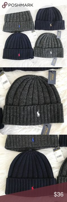 NWT Polo Ralph Lauren winter hat beanie New with tag 100% authentic polo hat  Choose ce8404f1506d
