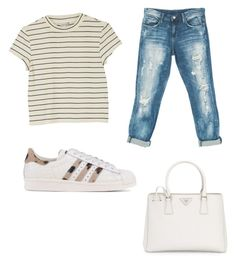 """""""Casual"""" by mariimolly ❤ liked on Polyvore featuring Monki, Sans Souci, adidas Originals and Prada"""