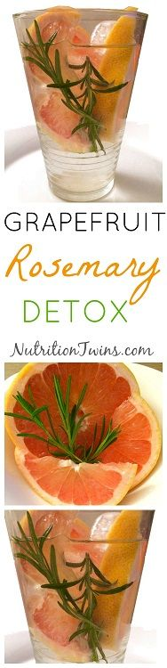 Grapefruit Rosemary Detox | Flush Bloat & Reboot After Overindulgence | Immediately get your mind & body back on the healthy track | Anti-inflammatory | For MORE RECIPES, Fitness & Nutrition Tips please SIGN UP for our FREE NEWSLETTER www.NutritionTwins.com