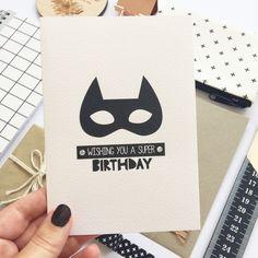 A fun birthday card for the superhero fan.