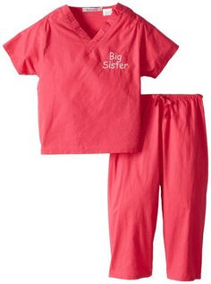 """Scoots Toddler Scrubs """"Big Sister"""", Hot Pink, (Def getting these for Lily when she become a big sissy) Big Sister Bag, Big Sister Gifts, Big Sisters, Sister Sister, Baby Girl Gifts, Gifts For Girls, Baby Boy, Kids Scrubs, Toddler Costumes"""