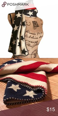 🇺🇸 NWOT stars & stripes long cozy warm scarf 🇺🇸 This is a NWOT thick and warm stars & striped winter scarf. Was purchased in a set with a hat & gloves. It's long and very comfortable and cozy. Show your red, white & blue pride. Scarf is unisex.  #scarf #winter #warm #outerwear #accessories #american #patriotic #usa #flag #unitedstates #proud #redwhiteandblue #proudtobeanamerican #stars #stripes #revampdlife #danamariedior Accessories Scarves & Wraps