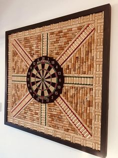 Dartboard Backer Wall Protector XL Made with Recycled Wine Corks Game Room Déco. Dartboard Backer Wall Protector XL Made with Recycled Wine Corks Game Room Décor. Wine Cork Art, Wine Cork Crafts, Crafts With Corks, Wooden Crafts, Dartboard Wall Protector, Cork Dartboard, Dartboard With Wine Corks, Recycled Wine Corks, Recycled Decor