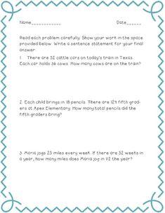 Multiplication (Vertical) | math | Pinterest | Multiplication and Math