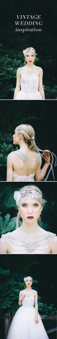 Vintage inspired shoulder necklace jewellery