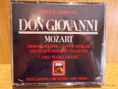 MOZART. ÓPERAS FAMOSAS. DON GIOVANNI. TRIPLE CD / EMI - 1987. CALIDAD LUJO.