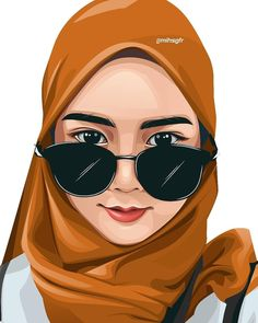 Hi there my darling husband wishing you a great day jaanu at work 🧔🏻💞🧕🏻 Illustration Vector, Portrait Illustration, Muslim Images, Caricature, Human Icon, Line Art Vector, Anime Muslim, Hijab Cartoon, Vector Portrait