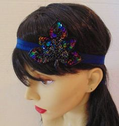 Flapper Headband Sequin Headband Art Deco by BellaCescaBoutique, $25.50