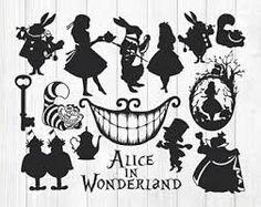 Výsledek obrázku pro alice in wonderland silhouette