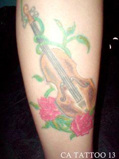 tatuagem violino linda