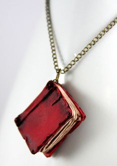 Red Book Necklace -     River Song Tardis journal Spoilers!