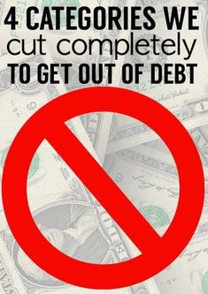 Here are 4 surprising categories we stopped spending money in to get out of debt!