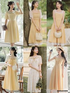 Kpop Fashion Outfits, Edgy Outfits, Modest Outfits, Cute Casual Outfits, Fashion Dresses, Simple Dresses, Cute Dresses, Vintage Dresses, Korean Girl Fashion