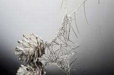 Pine Cone Necklace - silver art jewelry by Gur Kimel