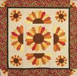 Dreseden Sunflower Quilt Pattern by Kimberly Einmo
