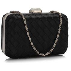 Geanta plic neagra Cynthia Chanel Boy Bag, Evening Bags, Clutch Bag, Special Events, Colour Black, Color, Shoulder Bag, Crystals, Weddings