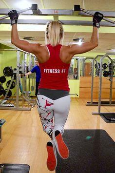 Bílé fitness legíny #leginy #fitnessleginy #bileleginy
