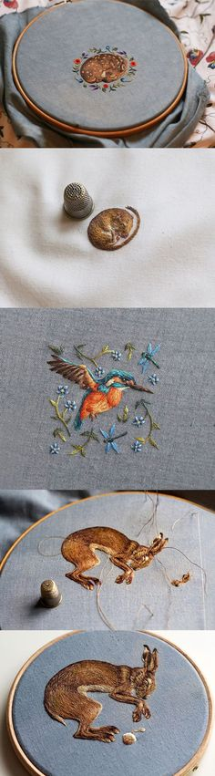 #Embroidery animals beautiful Chloe Giordano