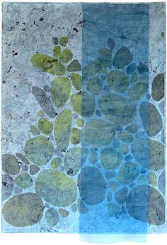 Secret Cove art quilt by Roberta le Poidevin.  Quilt Fest 2015.  Contemporary Quilt (UK).