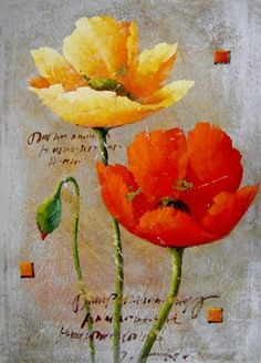 #flowerpaintings #art #painting Cheap Flowers, Still Life Oil Painting, Abstract Flowers, Beautiful Paintings, Daffodils, Painting Inspiration, Poppies, Art Gallery, Embroidery