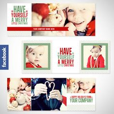 Christmas Facebook Timeline Covers - Set of 3 Christmas Timeline Cover Images. $8.00, via Etsy.