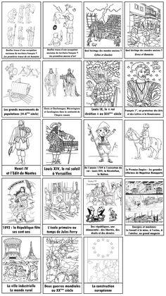 Outils pour enseigner l'Histoire en CM :  frise, intercalaires, pages titres