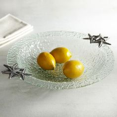 Starfish Glass Serving Bowl