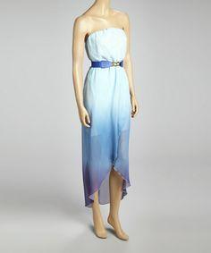 Loving this Blue Ombré Sleeveless Tulip Dress - Women on #zulily! #zulilyfinds  Can't wait to wear it!