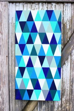 DIY Geometric Painting from Artzy Creations