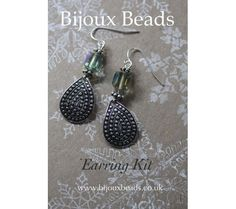 Silver India Earring Making Kit Jewellery Making, India, Kit, Drop Earrings, Personalized Items, Beads, Silver, Jewelry, Beading