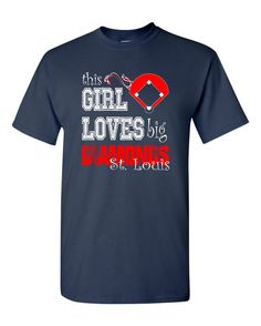 Check out This Girl Loves big diamonds St Louis unisex custom dryblend t shirt on genesisink