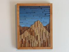 This amazing Mountain Range wood wall sculpture landscape piece is my impression to portray a realistic image of what mountains look like. This mountain landscape flows organically from one side to the other, putting some series of mountains behind others. From a distance it looks like